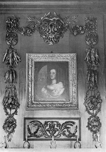 Carvings over the Hall Mantel. Photograph in In English Homes Vol 1 (Country Life, 1904).