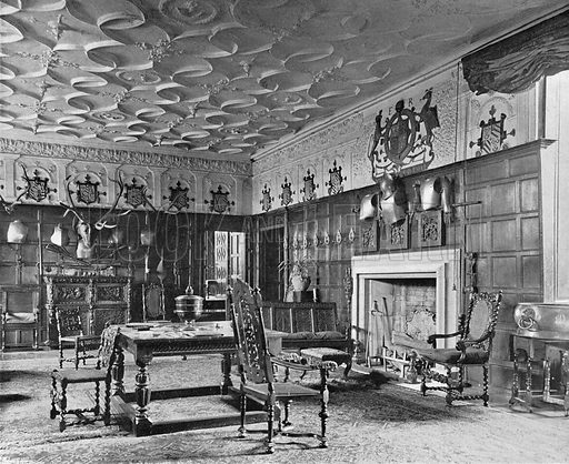 The Hall, South-East Corner. Photograph in In English Homes Vol 1 (Country Life, 1904).
