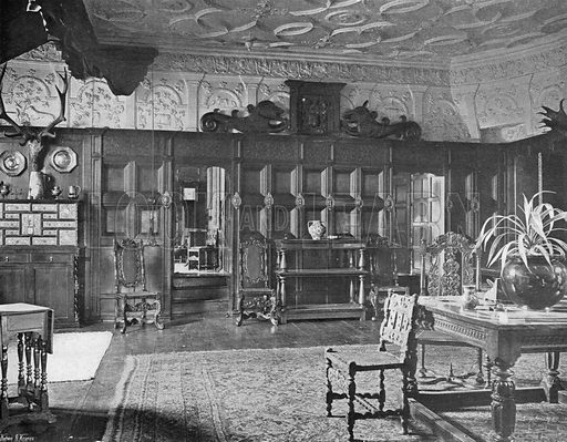 The Screen in the Hall, North-East End. Photograph in In English Homes Vol 1 (Country Life, 1904).