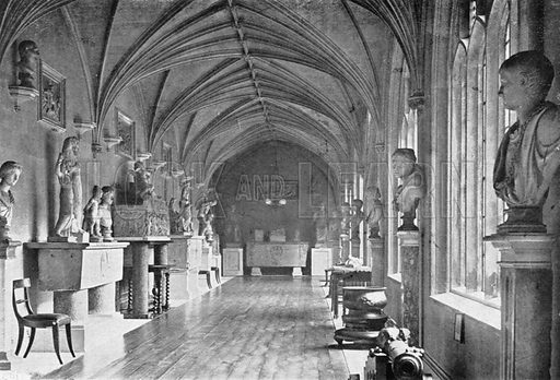 The East Cloister. Photograph in In English Homes Vol 1 (Country Life, 1904).