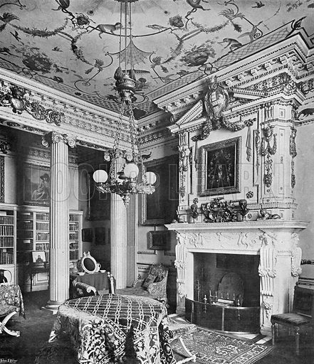 The Corner Room. Photograph in In English Homes Vol 1 (Country Life, 1904).