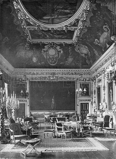 The Double Cube Room. Photograph in In English Homes Vol 1 (Country Life, 1904).