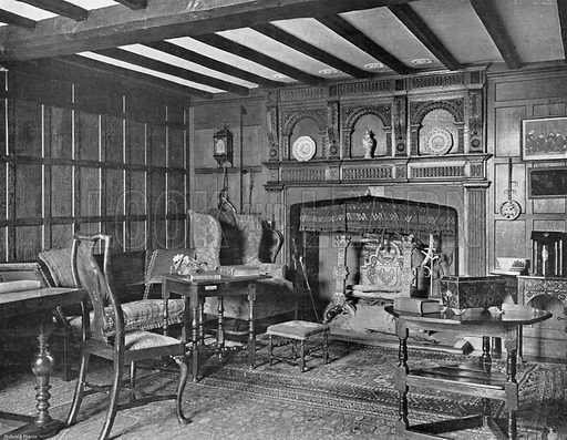 The Entrance Chamber of the House of the Chaloners. Photograph in In English Homes Vol 1 (Country Life, 1904).