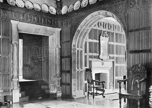 The South-East Corner of the Hall. Photograph in In English Homes Vol 1 (Country Life, 1904).