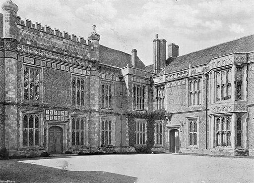 The Courtyard. Photograph in In English Homes Vol 1 (Country Life, 1904).