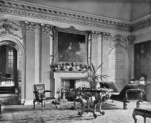 King James's Drawing-Room. Photograph in In English Homes Vol 1 (Country Life, 1904).