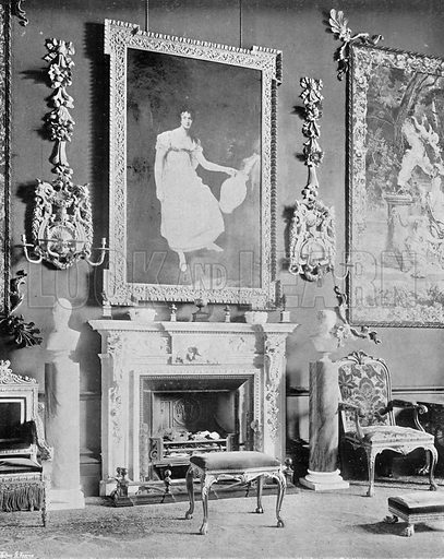 Chimney-Piece in Great Dining-Room. Photograph in In English Homes Vol 1 (Country Life, 1904).