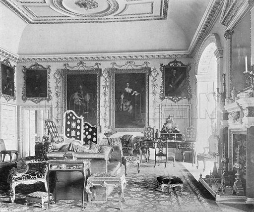 The Second Drawing-Room. Photograph in In English Homes Vol 1 (Country Life, 1904).