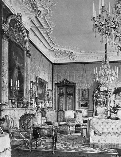 The Morning Room. Photograph in In English Homes Vol 1 (Country Life, 1904).