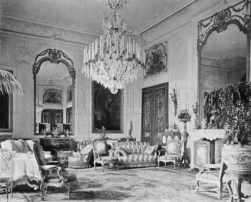 The Grey Drawing-Room. Photograph in In English Homes Vol 1 (Country Life, 1904).