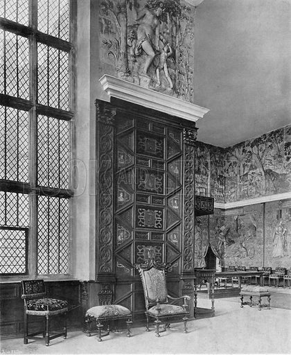 The Recess in the Presence Chamber. Photograph in In English Homes Vol 1 (Country Life, 1904).