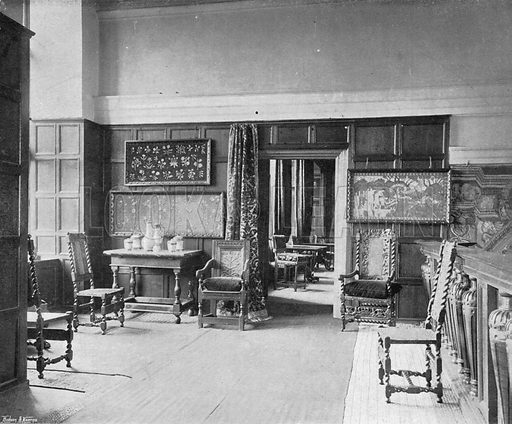 The Minstrels Gallery. Photograph in In English Homes Vol 1 (Country Life, 1904).