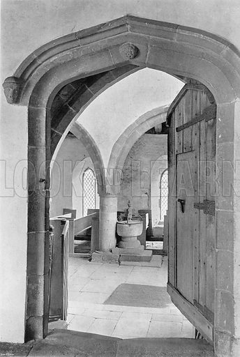 The Chapel Entrance. Photograph in In English Homes Vol 1 (Country Life, 1904).