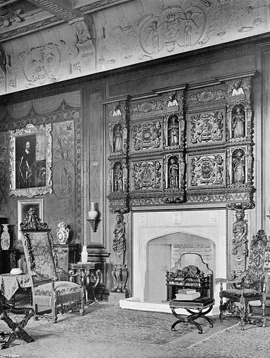 The Chimney-Piece in the Drawing-Room. Photograph in In English Homes Vol 1 (Country Life, 1904).
