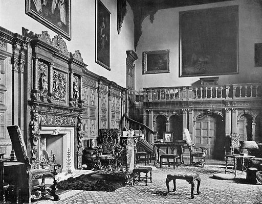 The Hall and Gallery--East End. Photograph in In English Homes Vol 1 (Country Life, 1904).