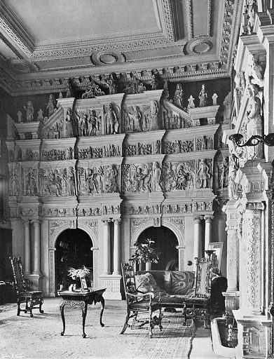 The Oak Screen in the Hall. Photograph in In English Homes Vol 1 (Country Life, 1904).