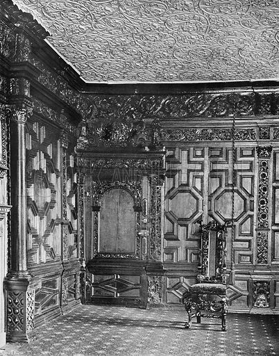 A Corner in the Oak Room. Photograph in In English Homes Vol 1 (Country Life, 1904).