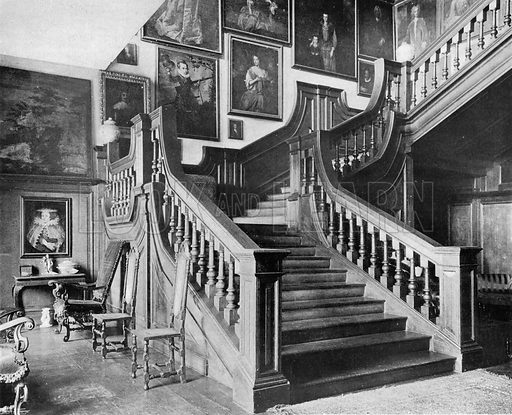 The Stairway. Photograph in In English Homes Vol 1 (Country Life, 1904).