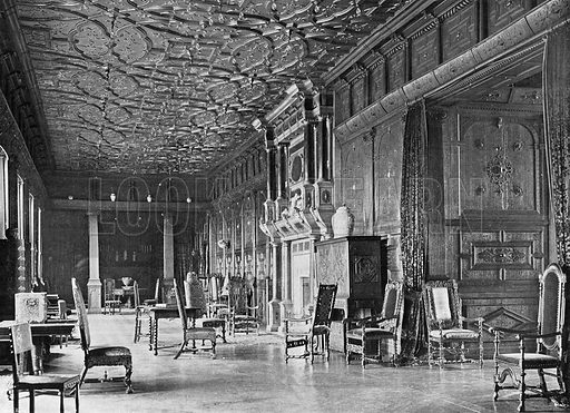 The West End of the Long Gallery. Photograph in In English Homes Vol 1 (Country Life, 1904).