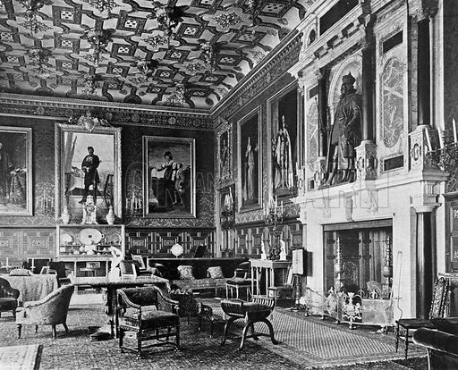 King James's Room. Photograph in In English Homes Vol 1 (Country Life, 1904).