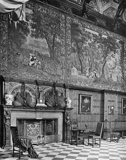 The Marble Hall, South Side. Photograph in In English Homes Vol 1 (Country Life, 1904).