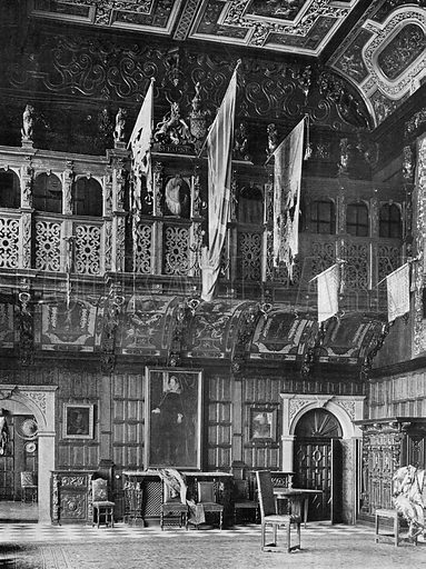 The Marble Hall, East End. Photograph in In English Homes Vol 1 (Country Life, 1904).