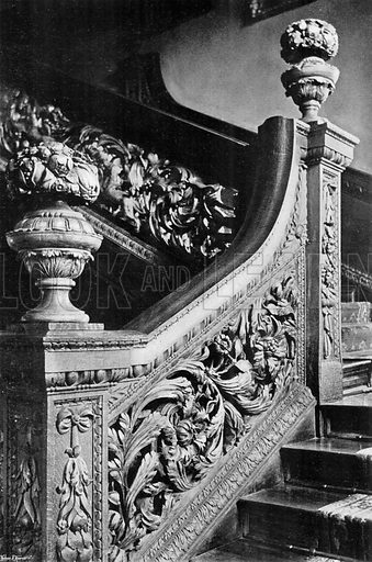 A Portion of the Stairway. Photograph in In English Homes Vol 1 (Country Life, 1904).