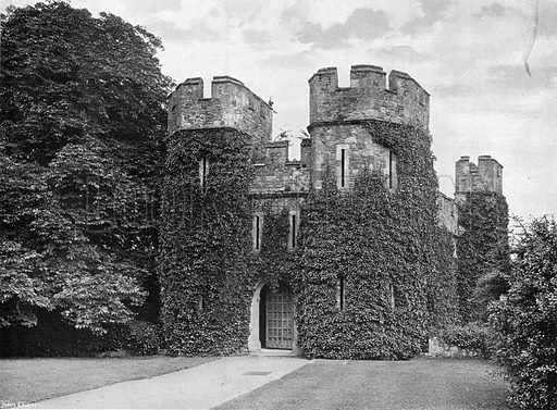 The Upper Gate of the Keep. Photograph in In English Homes Vol 1 (Country Life, 1904).