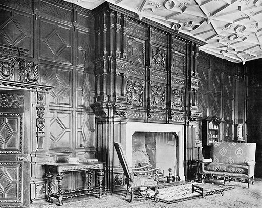 The Drawing-Room Fireplace. Photograph in In English Homes Vol 1 (Country Life, 1904).
