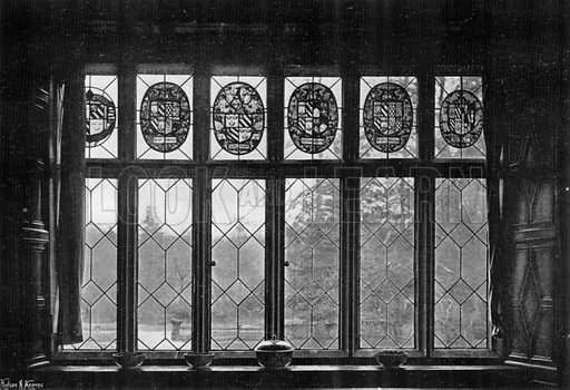 A Window in the Drawing-Room. Photograph in In English Homes Vol 1 (Country Life, 1904).