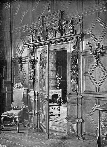 The Two Drawing-Rooms. Photograph in In English Homes Vol 1 (Country Life, 1904).