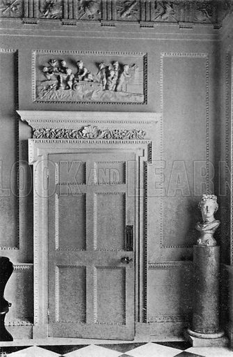 A Doorway in the Hall. Photograph in In English Homes Vol 1 (Country Life, 1904).