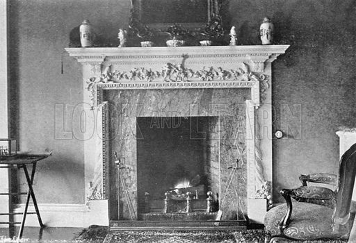 A Scultured Mantel. Photograph in In English Homes Vol 1 (Country Life, 1904).