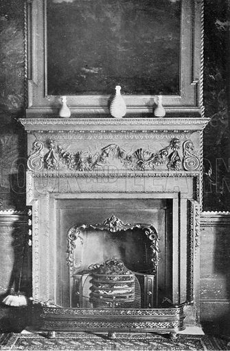 The Tapestry Room Chimney-Piece. Photograph in In English Homes Vol 1 (Country Life, 1904).