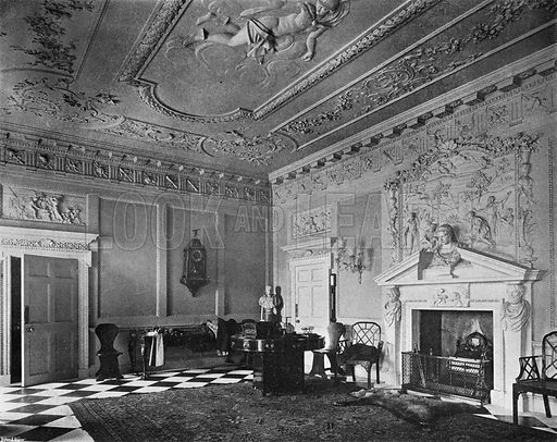 The Entrance Hall. Photograph in In English Homes Vol 1 (Country Life, 1904).