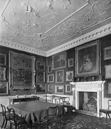 The Small Dining-Room. Photograph in In English Homes Vol 1 (Country Life, 1904).