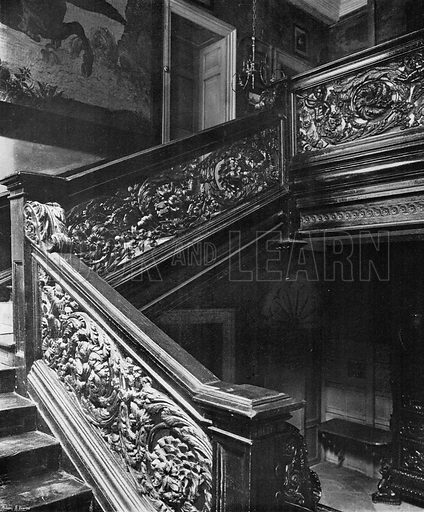The Grand Stairway. Photograph in In English Homes Vol 1 (Country Life, 1904).