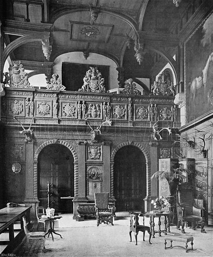 The Screen and Gallery of the Hall. Photograph in In English Homes Vol 1 (Country Life, 1904).