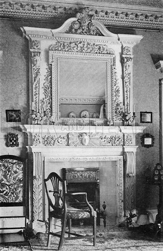 Drawing-Room Chimney-Piece. Photograph in In English Homes Vol 1 (Country Life, 1904).