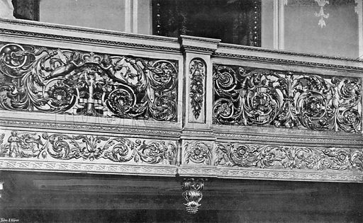 The Carved Gallery of the Stairway. Photograph in In English Homes Vol 1 (Country Life, 1904).