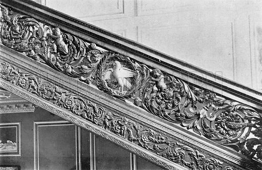 The Pierced Carving of the Balustrade. Photograph in In English Homes Vol 1 (Country Life, 1904).