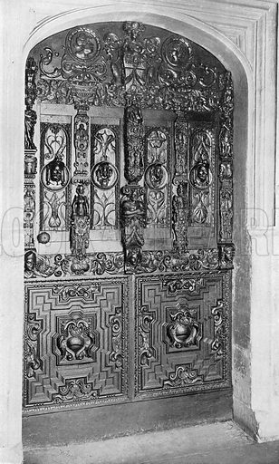 The Hall Door, Early Seventeenth Century. Photograph in In English Homes Vol 1 (Country Life, 1904).