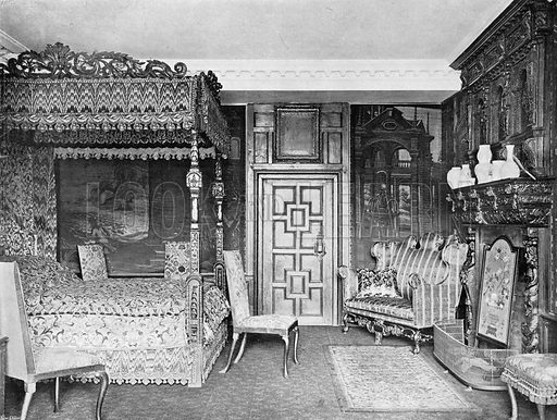 Queen Mary's Room. Photograph in In English Homes Vol 1 (Country Life, 1904).