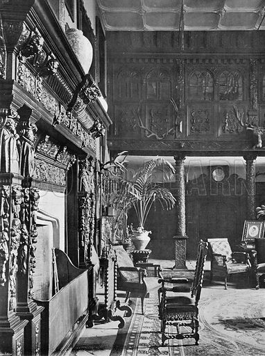 The Hall and Gallery. Photograph in In English Homes Vol 1 (Country Life, 1904).