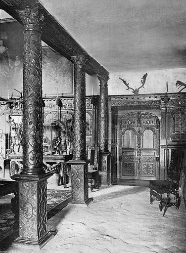 Entrance to the Hall. Photograph in In English Homes Vol 1 (Country Life, 1904).