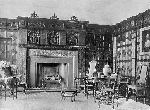 The South End of the Drawing-Room. Photograph in In English Homes Vol 1 (Country Life, 1904).