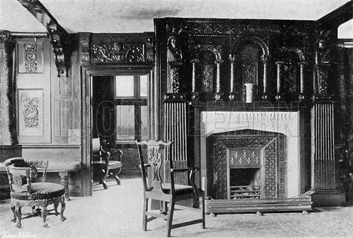 The Priest's Room. Photograph in In English Homes Vol 1 (Country Life, 1904).