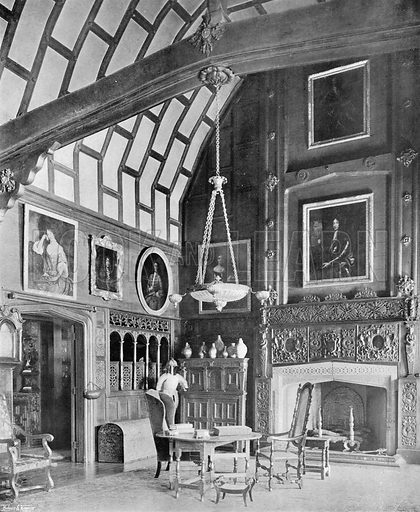 The Great Hall. Photograph in In English Homes Vol 1 (Country Life, 1904).