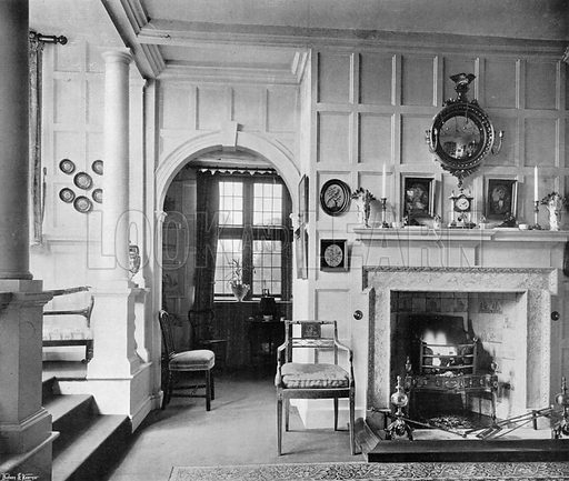 The China Room. Photograph in In English Homes Vol 1 (Country Life, 1904).
