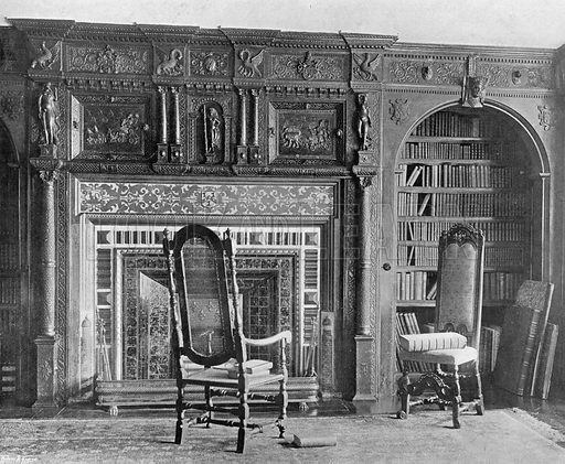 The North End of the Library. Photograph in In English Homes Vol 1 (Country Life, 1904).